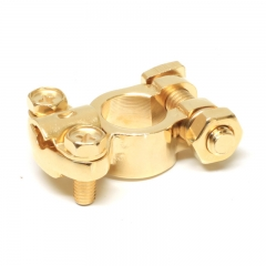 Gold Plated Battery Terminal Clamp Connector Right