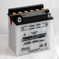Power Sonic 12N10-3A-1 conventional flooded power sports battery