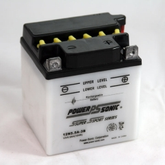 Power Sonic 12N5.5A-3B conventional flooded power sports battery