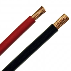3/0 gauge battery cable available in red or black for heavy-duty starter, alternator, power and ground connections.