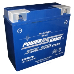 The 51915-FS is a sealed, maintenance-free, AGM battery that is found in many BMW motorcycles as well as a few other European motorcycles