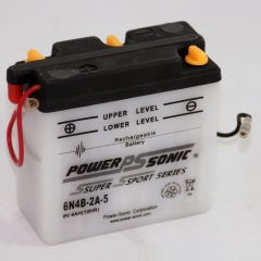 6N4B-2A-5 6 Volt, 24 CCA, 2 Ah Power Sports Battery with Battery Acid and Free Shipping