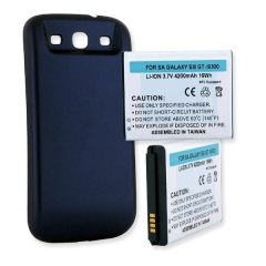 Samsung Galaxy S III Extended Cell Phone Battery (Blue)