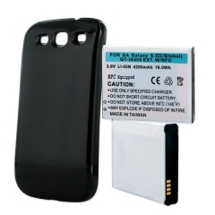 Samsung Galaxy S III Extended Cell Phone Battery (Black)