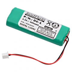 Replacement Battery for select Dogtra and DT Systems Dog Collars / Dog Training Systems. 4.8 Volt, 400 mAh Rechargeable NiMH.