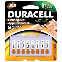 Duracell DA312B8 Size 312 Zinc Air Hearing Aid Batteries