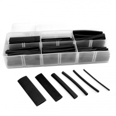 Single Wall Black Heat Shrink Tube Kit, 158 Pieces