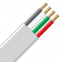 Jacketed Wire - 4 Conductor 14 Gauge White, Black, Green & Red