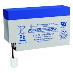 Power Sonic PS-1208JST, 12 volt 0.8 Ah, sealed lead acid battery