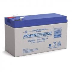 Power Sonic PS-1280, 12 volt 8 ah sealed lead acid battery
