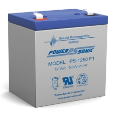 PS-1250 - 12 Volt 5 Ah Sealed Lead Acid Battery
