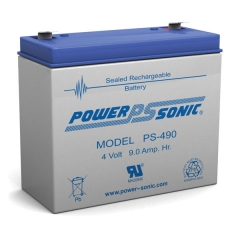 Power Sonic PS-490 - 4 Volt 9 Ah Sealed Lead Acid Battery