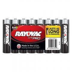 Rayovac Ultra Pro AA Alkaline Batteries 8 Pack