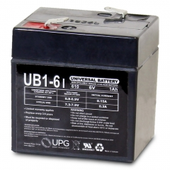 Universal UB610 6 Volt 1 Ah Sealed Lead Acid Battery