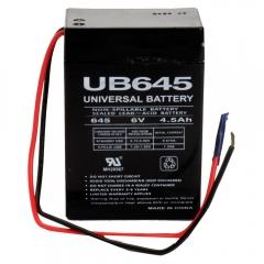 Universal UB645WL - 6 Volt 4.5 Ah Battery