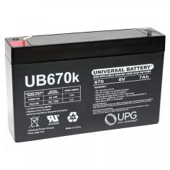 Universal UB670 - 6 Volt 7 Ah Battery