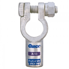 3/0 Gauge Fusion Solder Straight Terminal Clamp Connector