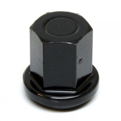 """Stainless Steel 3/8"""" Closed Cap Epoxy Black"""