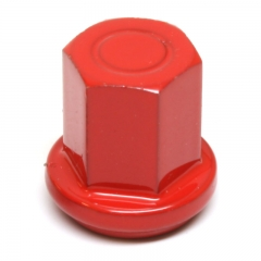 """Stainless Steel 3/8"""" Closed Cap Epoxy Red"""