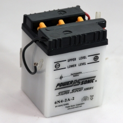 6N4-2A-2 6 Volt 4 Ah Power Sports Battery with Battery Acid and Free Shipping
