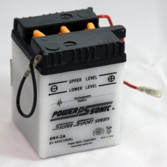 6N4-2A 6 Volt 4 Ah Power Sports Battery with Battery Acid and Free Shipping