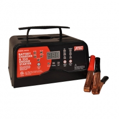 ATEC Model 3055A, 6 and 12 volt fully automatic bench battery charger with 55 amp cranking assist.