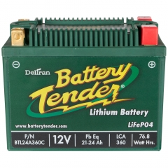 Battery Tender 21-24 Ah Lithium Iron Power Sports Battery