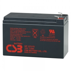 CSB GP1272 (F1/F2) 12 Volt 7.2 Ah Sealed Lead Acid Battery