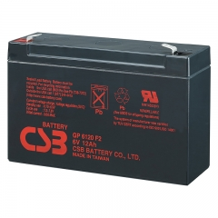 CSB GP6120 (F1/F2) 6 Volt 12 Ah Sealed Lead Acid Battery