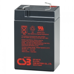 CSB GP645 (F1/F2) 6 Volt 4.5 Ah Sealed Lead Acid Battery