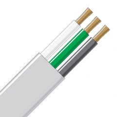 Jacketed Wire - 3 Conductor 10 Gauge White & Black
