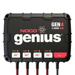 NOCO Genius GEN4 4-bank on-board marine boat battery charger.