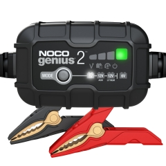NOCO Genius GENIUS2 Battery Charger and Maintainer for 6 and 12 Volt Batteries.