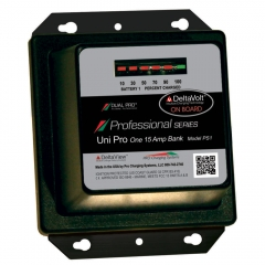 Pro Charging Systems, Dual Pro, Uni Pro PS1 single output on-board battery charger. 12 volt, 15 amp output professional series.