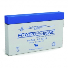 Power Sonic PS-1221S 12 volt 2 ah sealed lead acid battery