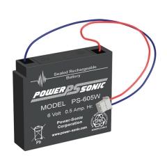 PS-605 - 6 Volt 0.5 Ah Sealed Lead Acid Battery