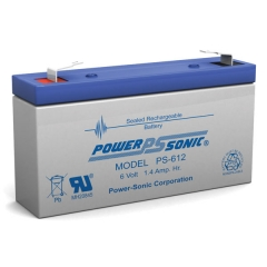 PS-612 - 6 Volt 1.4 Ah Sealed Lead Acid Battery