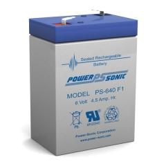 PS-640 - 6 Volt 4 Ah Sealed Lead Acid Battery