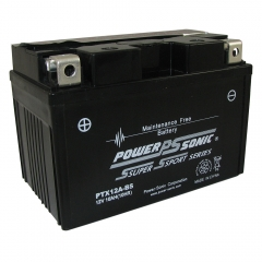 PTX12A-BS AGM Power Sports Battery