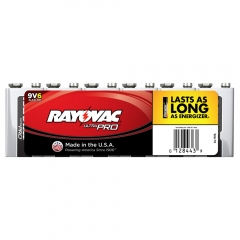 Rayovac Ultra Pro 9V Alkaline Batteries 6 Pack