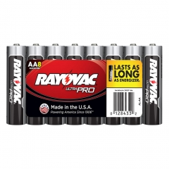 Rayovac Ultra Pro AA Alkaline Batteries 8 Pack