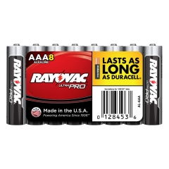 Rayovac Ultra Pro AAA Alkaline Batteries 8 Pack
