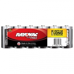 Rayovac Ultra Pro C Alkaline Batteries 6 Pack