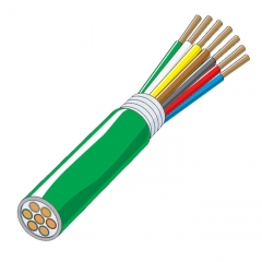 Heavy Duty Trailer Cable - 7 Conductor 8/10/12 Gauge Black, Brown, Green, White, Brown, Blue & Red