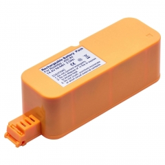 Replacement battery for iRobot Roomba cordless robotic vacuum cleaners.