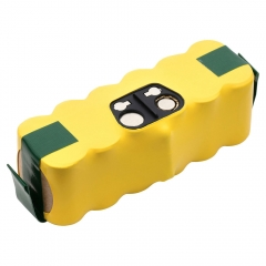 Replacement battery for iRobot Roomba 500 series cordless robotic vacuum cleaners.