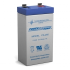 Power Sonic PS-260 - 2 Volt 6 Ah Sealed Lead Acid Battery, blue and gray case.