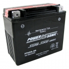 PTX20L-BS AGM Power Sports Battery, sealed, maintenance free, leak proof and spill proof.
