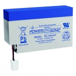 Power Sonic PS-1208JST, 12 volt 0.8 Ah, sealed lead acid battery