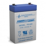 PS-628 - 6 Volt 2.9 Ah Sealed Lead Acid Battery
